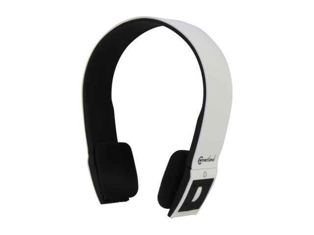 ConnectLand Black/White CL-AUD23029 Supra-aural Bluetooth v2.1 EDR Stereo Headset with Microphone - White/Black