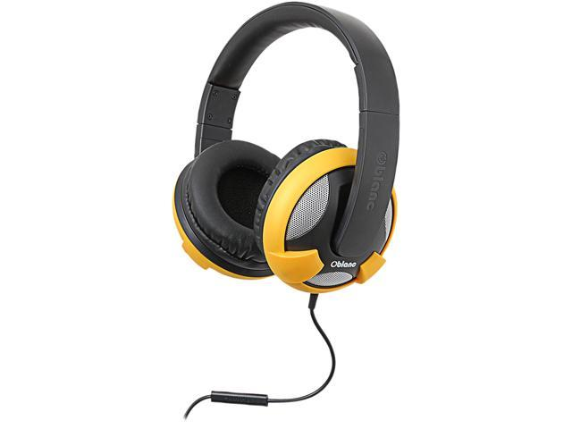 SYBA Oblanc U.F.O. 3.5mm Connector Circumaural Headphones with Invisible In-line Microphone, YELLOW