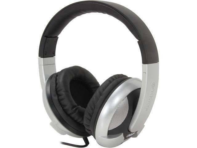 SYBA Black/White OG-AUD63044-2 Circumaural Oblanc U.F.O 200 Around-Ear 2.0 Stereo Headphone with In-line Mic