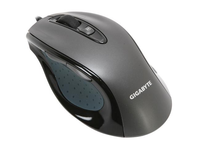 GIGABYTE M6800 GM-M6800 Noble Black 4 Buttons 1 x Wheel USB Wired Optical 1600 dpi Gaming Mouse
