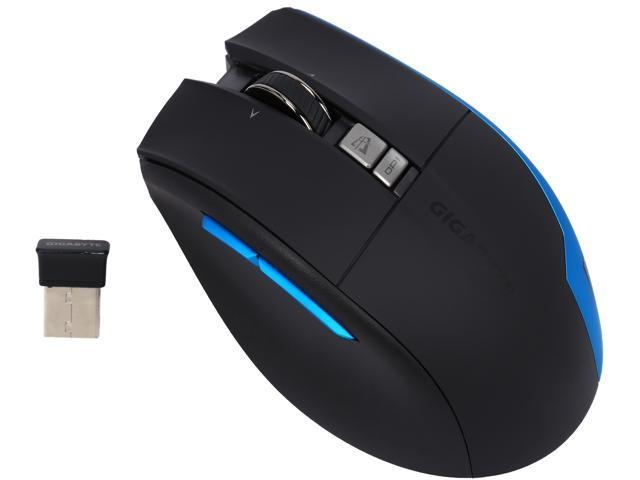 GIGABYTE AIRE M93 ICE Black RF Rechargeable Wireless Laser Anywhere Mouse