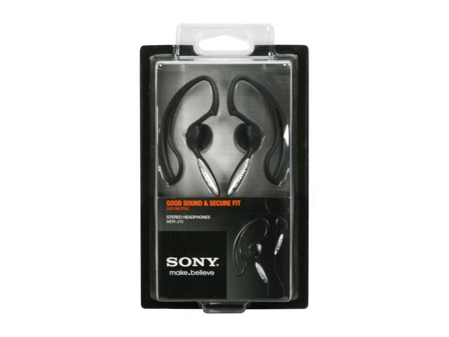 SONY Black MDR-J10/BLACK 3.5mm Connector Vertical in-the-ear Clip Style Headphone