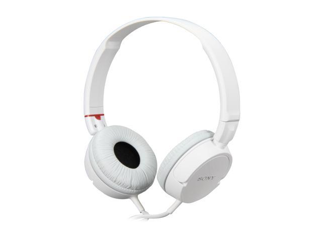 SONY White MDR-ZX100/WHT Supra-aural Stereo Headphone - White