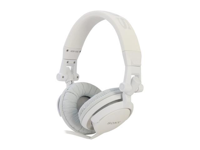 SONY White MDR-V55/WHI DJ Style Headphone (White)