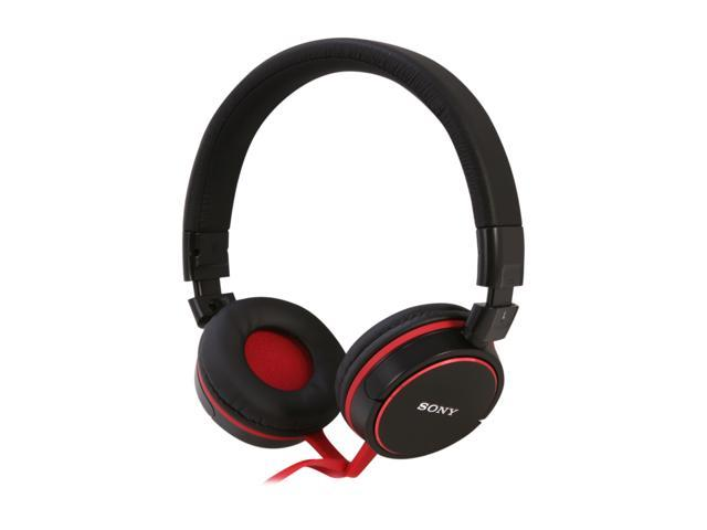 SONY Black/Red MDR-ZX600/BLK 3.5mm Connector Supra-aural Stereo Headphone (Black/Red)