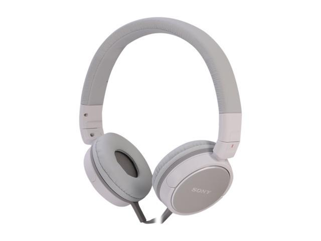 SONY White MDR-ZX600/WHI 3.5mm Connector Supra-aural Stereo Headphone (White)