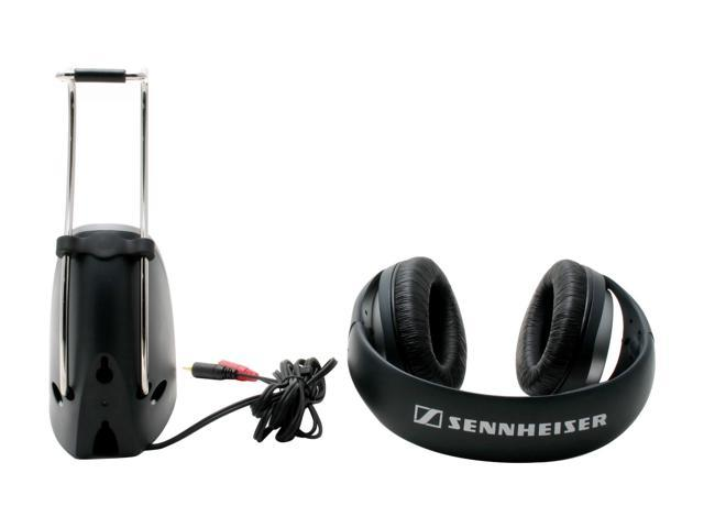 Sennheiser RS140 3.5mm/ 6.3mm/ RCA Connector Circumaural RF Wireless Headphone System