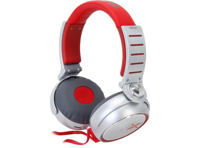 SONY Red/Silver MDR-X05/RS Headphones, Red/Silver