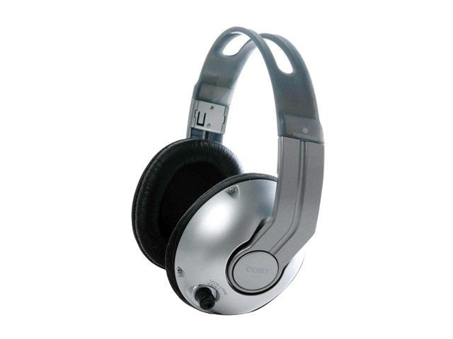 COBY CV-320 Circumaural Professional Studio Monitor Headphone with Dual Volume Controls