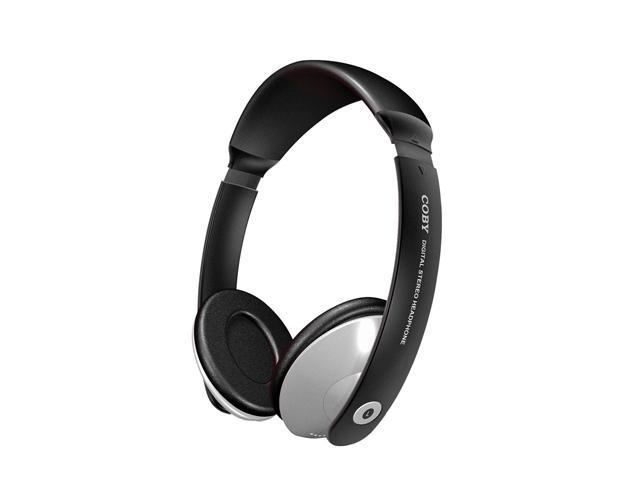 COBY CV-121 3.5mm Connector Circumaural Super Bass Stereo Headphone W/Volume Control