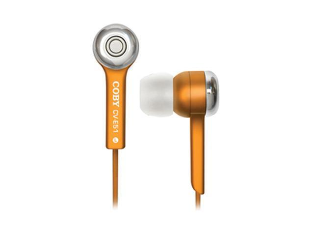 COBY Orange CV-E52 3.5mm Connector Canal Jammerz Isolation Stereo Earphone (Orange)