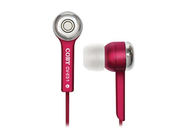 COBY Red CV-E52 In-Ear Jammerz Isolation Stereo Earphone (Red)