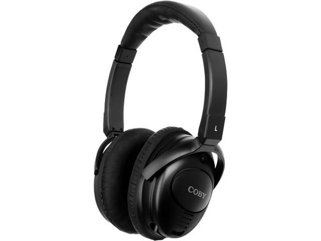 COBY CV195 3.5mm Connector Circumaural Noise Canceling Stereo Headphone