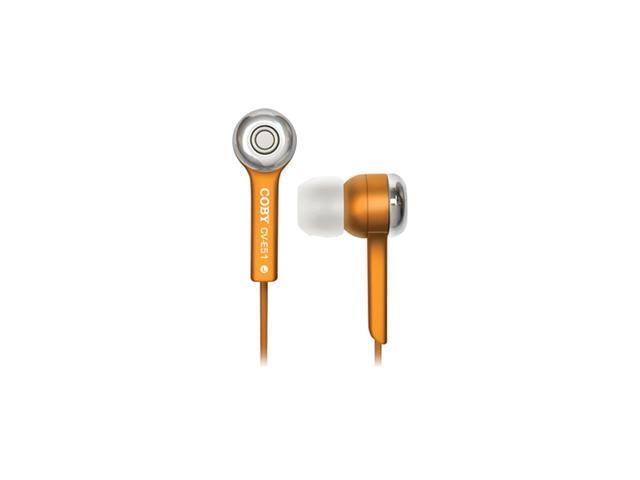 COBY Yellow CVE52 Canal Isolation Stereo Eardphone