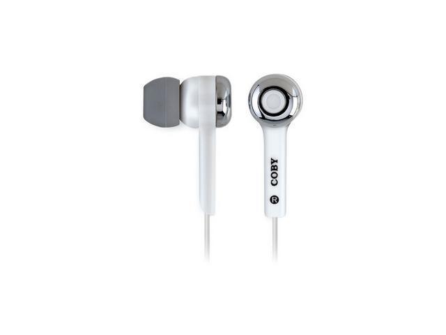COBY CVE91 In-Ear Isolation Stereo Earphones w/ Volume Control (Black)