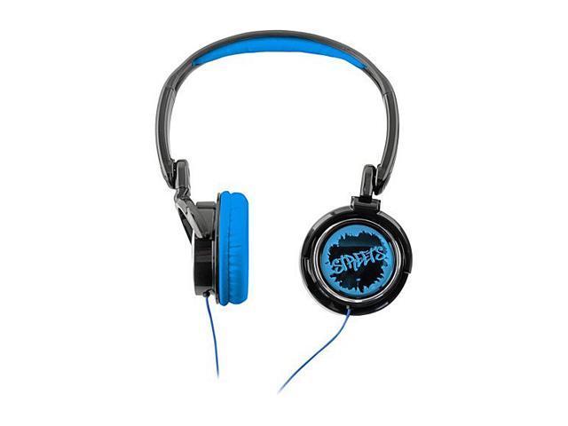 COBY Blue CV400BLU Urban Style Deep Bass Headphone - Blue