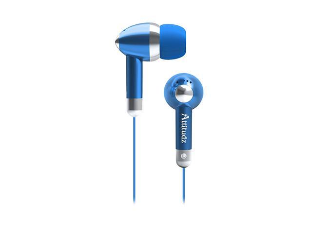 COBY Blue CV215BLU 6.3mm Connector 2-in-1 Combo Deep Bass Headphones and Earphones