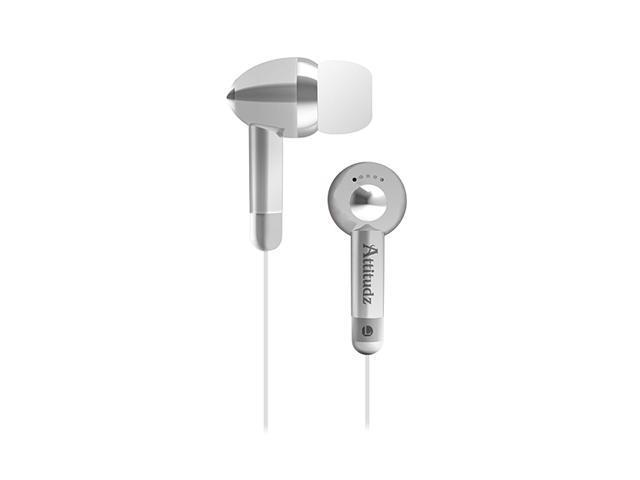 COBY Silver CVE53SVR Earbud Attitudz Isolation Stereo Earphones, Silver