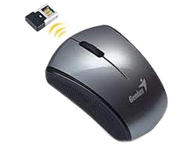 Genius Traveler 900S 31030042110 Gray 3 Buttons 1 x Wheel USB RF Wireless Optical Super Mini 2.4GHz Notebook Mouse