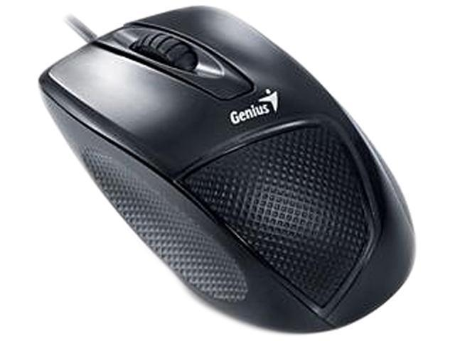 Genius 31010010100 Black 3 Buttons 1 x Wheel USB Wired Optical Mouse