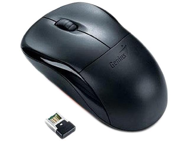 Genius 31030089101 Black 3 Buttons 1 x Wheel USB RF Wireless Optical Mouse