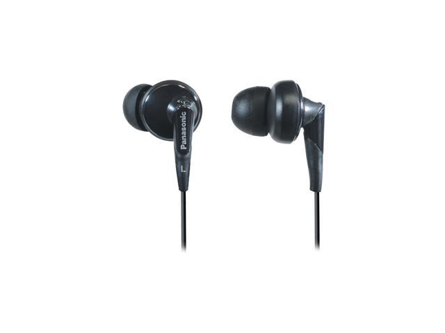 Panasonic Black RP-HJE450-K 3.5mm Connector Canal Earphone (Black)