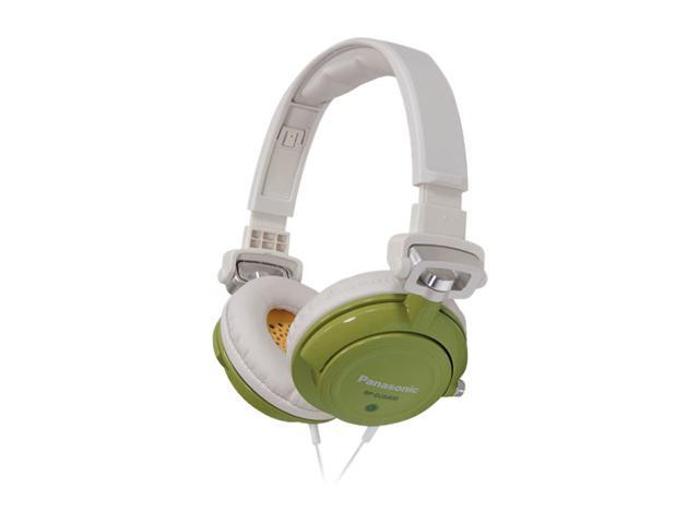 Panasonic Green RP-DJS400-G 3.5mm Connector Supra-aural DJ Street Style Headphone (Green)
