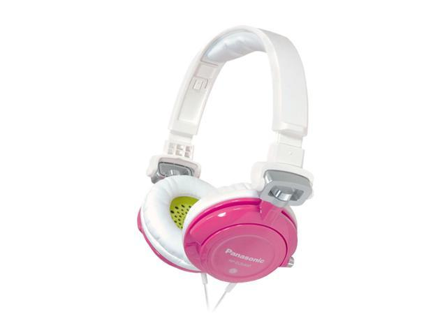 Panasonic Pink RP-DJS400-Z 3.5mm Connector Supra-aural DJ Street Style Monitor Headphone (Pink)
