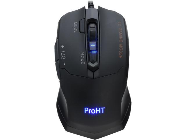 inland 07245 Black 7 Buttons 1 x Wheel Wired Optical Gaming Mouse