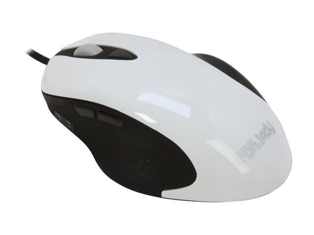 SteelSeries 63022 5 Buttons 1 x Wheel USB Iron.Lady QcK Mouse and MousePad Bundle - White/Medium