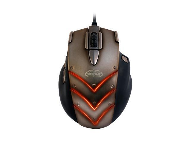 SteelSeries 62100 Brown Wired Laser World of Warcraft: Cataclysm MMO Gaming Mouse