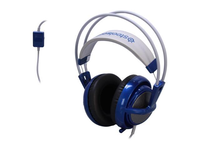 SteelSeries Siberia V2 Circumaural Full-Size Gaming Headset - Blue