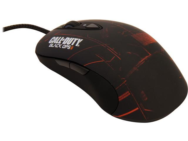 SteelSeries Call of Duty Black Ops II 62157 Black / Orange Wired Laser Gaming Mouse
