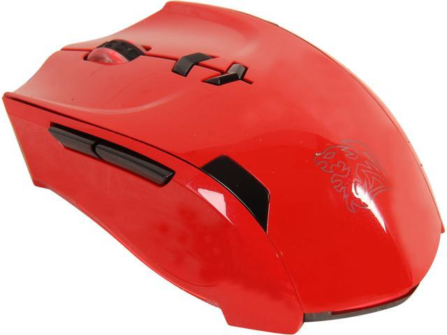 Tt eSPORTS THERON MO-TRN006DTL Blazing Red 8 Buttons 1 x Wheel USB Wired Laser Gaming Mouse