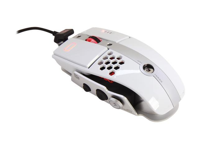 Tt eSPORTS Level 10 M MO-LTM009DTJ Iron White 7 Buttons 1 x Wheel USB Wired Laser Gaming Mouse