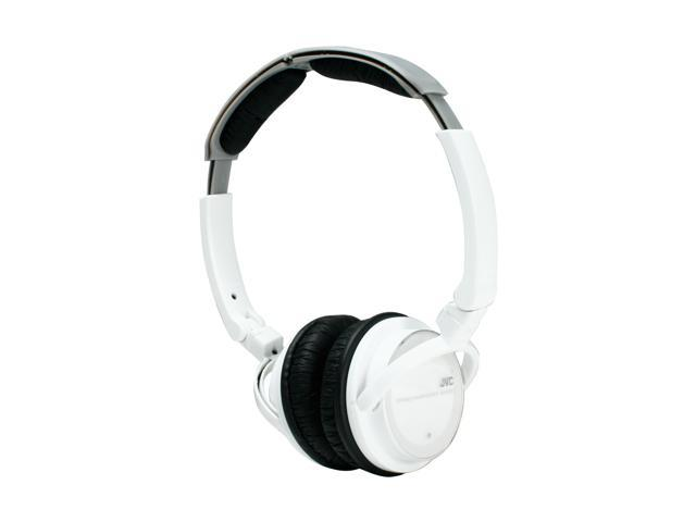 JVC HAS360W Lightweight Freestyle DJ Headphones (White)