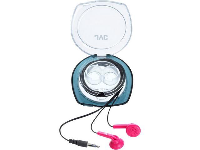 JVC Pink HA-F10C-P Earbud Earphone With Case (Pink)