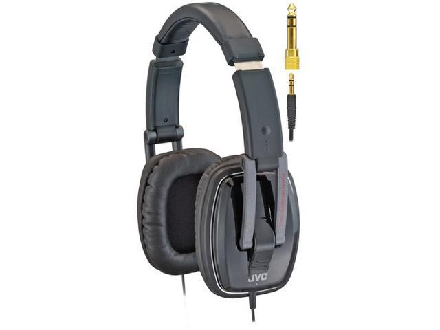 JVC HAM750 3.5mm/ 6.3mm Connector Circumaural Folding DJ-Style Monitor Headphone