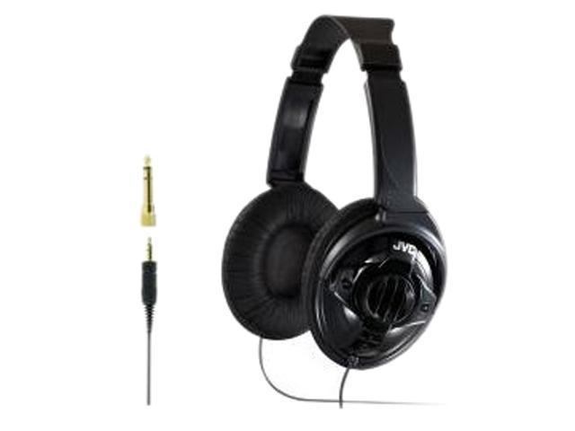 JVC Black HA-X580 3.5mm/ 6.3mm Connector Circumaural Monitor Headphone