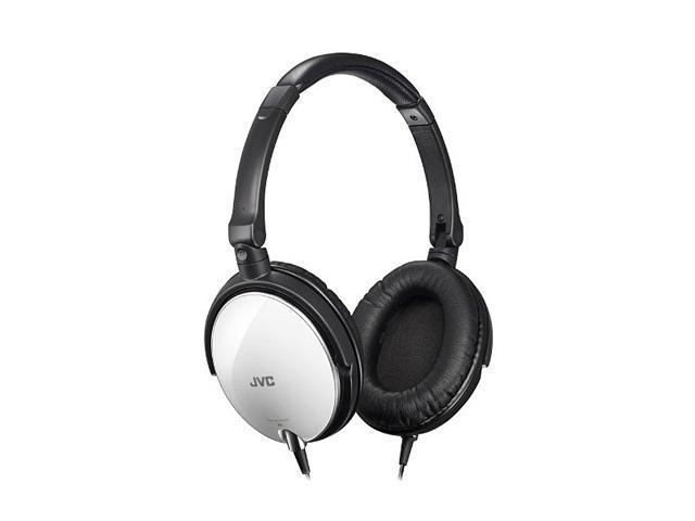 JVC White HAS600W Lightweight Folding Headphone with Bass Boost