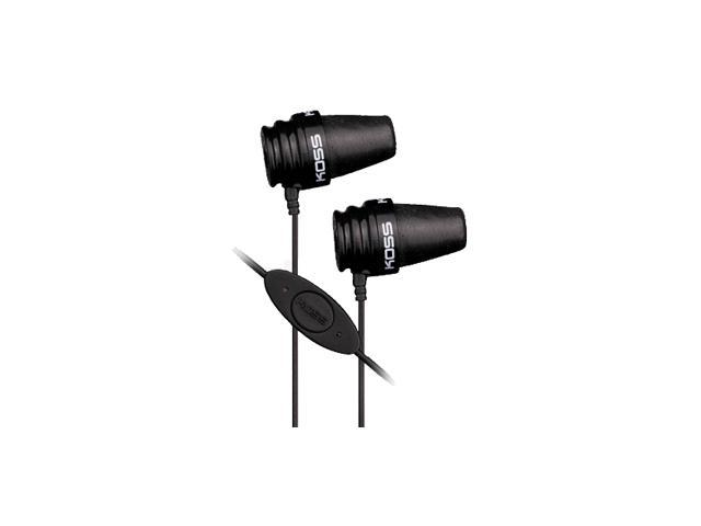 KOSS Black iSpark Canal Stereo Earphone