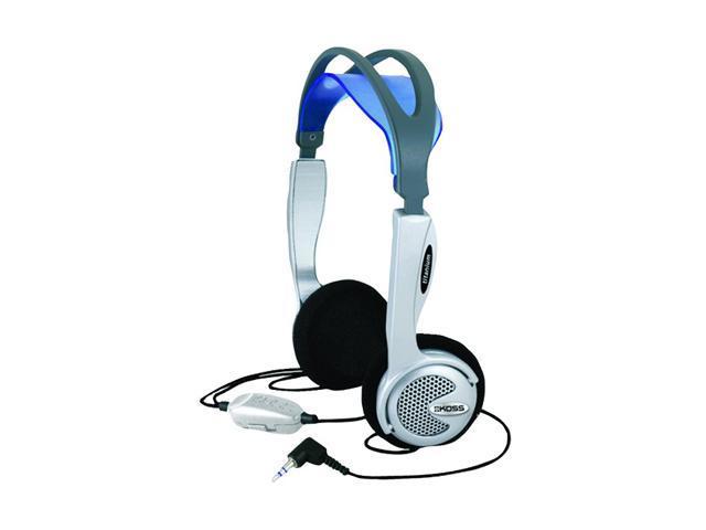 KOSS 163791 3.5mm/ 6.3mm Connector Supra-aural Headphones Inline Volume Control Adjustable Headband Dual-Entry Cord