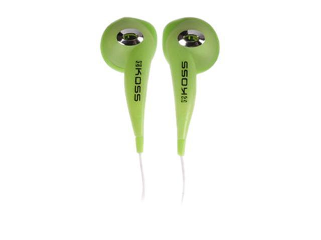 KOSS KE10 Green JAMS AA 3.5mm Connector Earbud Stereo Earphone (Green)