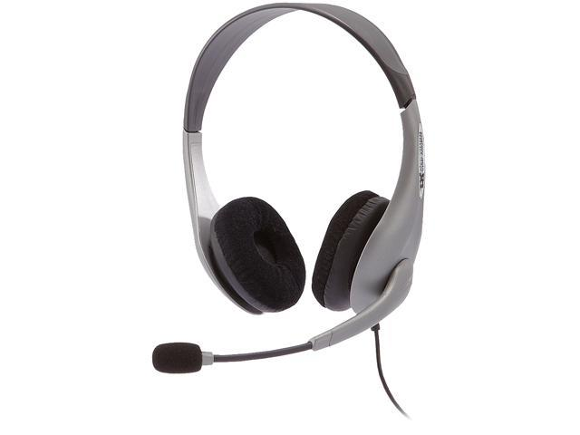 Cyber Acoustics AC-401 3.5mm Connector Circumaural Speech Recognition Stereo Headset & Boom Mic