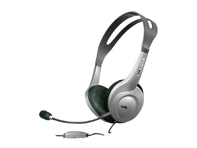 Cyber Acoustics AC208 Circumaural Speech Recognition Stereo Headset & Removable Boom Mic