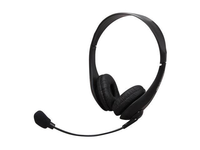 Cyber Acoustics AC-400MV 3.5mm Connector Supra-aural Speech Recognition Stereo Headset and Boom Mic