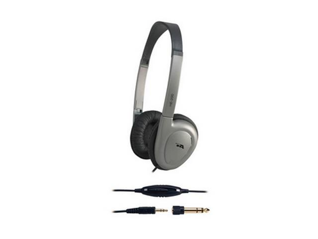 Cyber Acoustics HE-200 3.5mm/ 6.3mm Connector Supra-aural Deluxe Stereo Headphone
