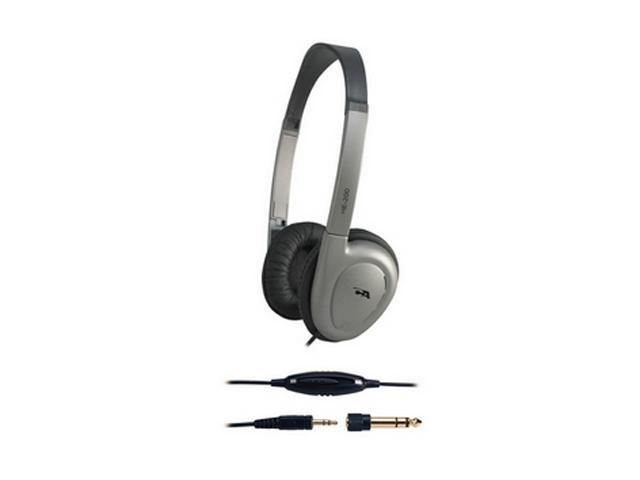 Cyber Acoustics HE-200 3.5mm/ 6.3mm Connector Supra-aural Deluxe Stereo Headphones