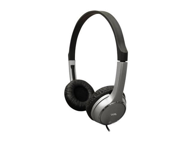 Cyber Acoustics Silver ACM-7000 3.5mm Connector Stereo Headphones for Kids