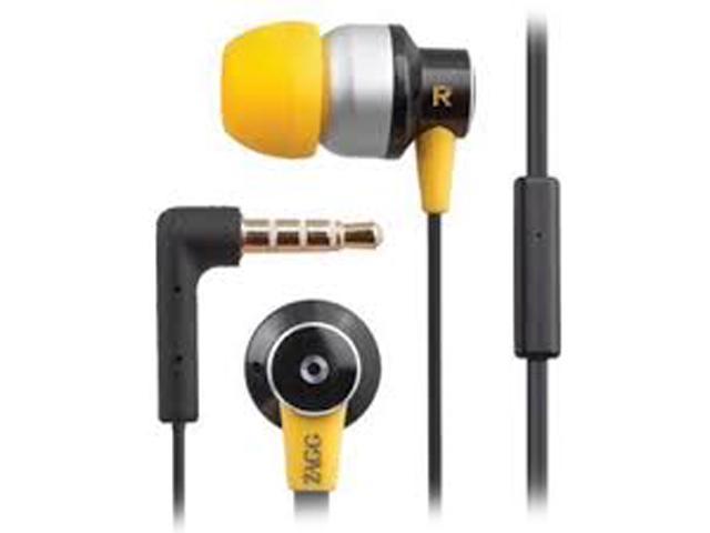 ZAGG Black/Silver Z-ZR-SIX 3.5mm Connector Audio ZR-Six Earbuds with Mic